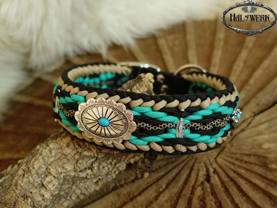 Halsband geflochten indianisch Raute