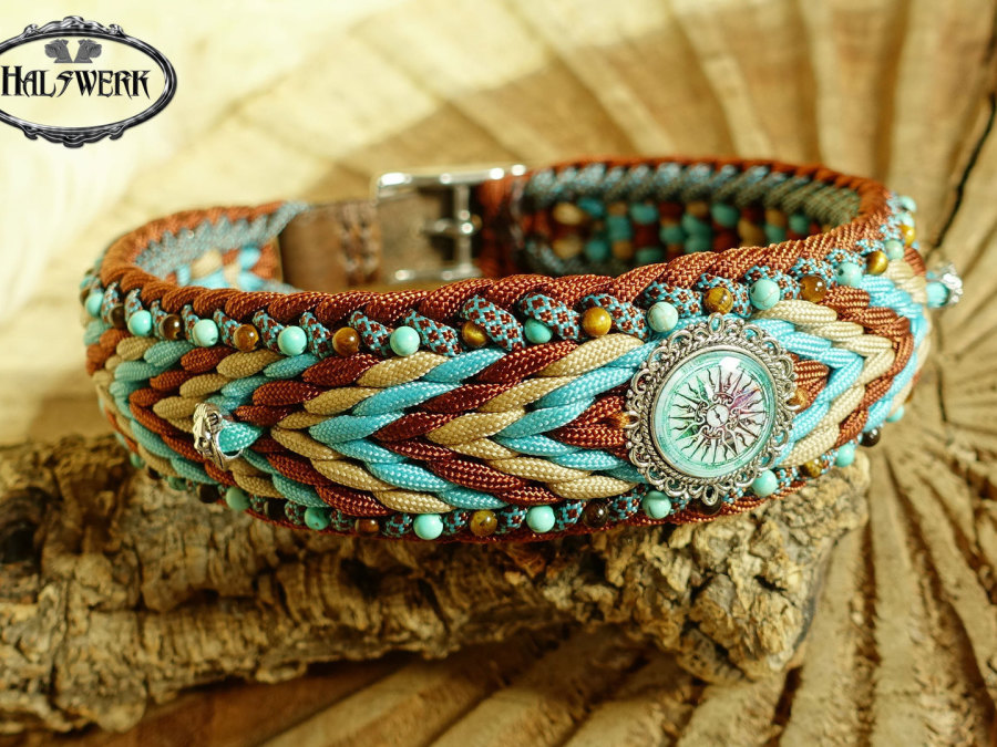 Halsband indianisch Afrikanisch geflochten